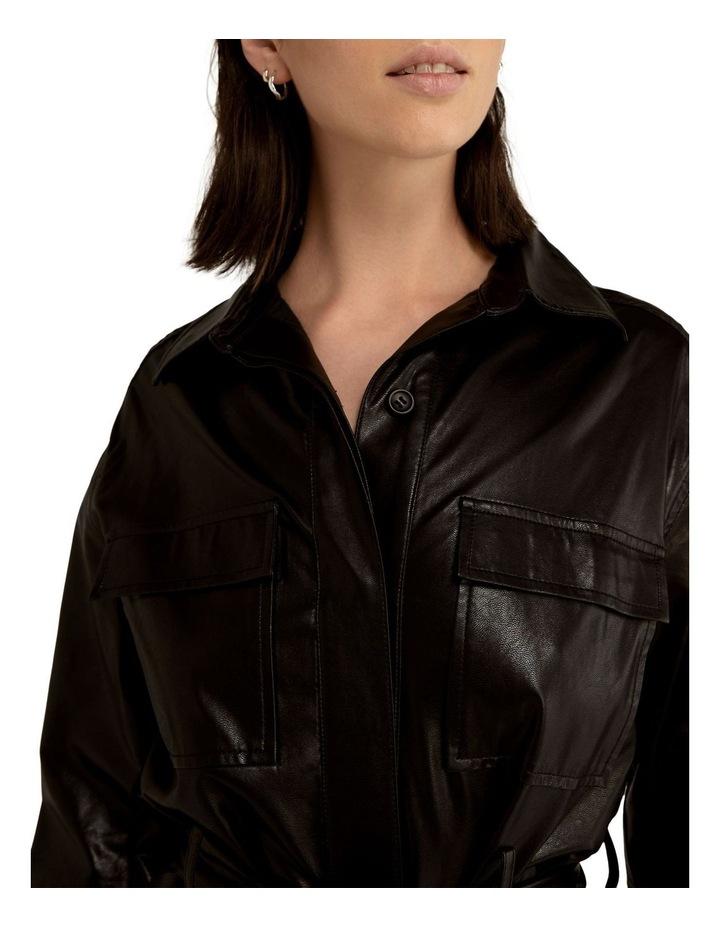 Slick Rick Pu Shirt Dress image 5