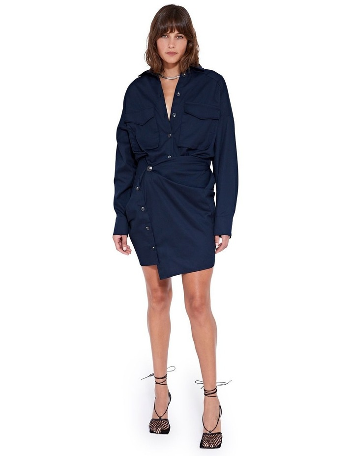 Forbes Mini Dress Indigo image 1