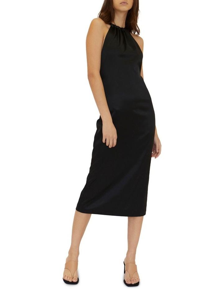 Long Nights Draw In Neck Dress Black image 1
