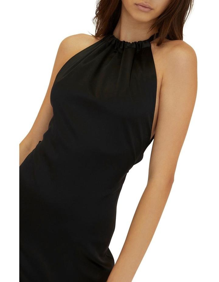 Long Nights Draw In Neck Dress Black image 4