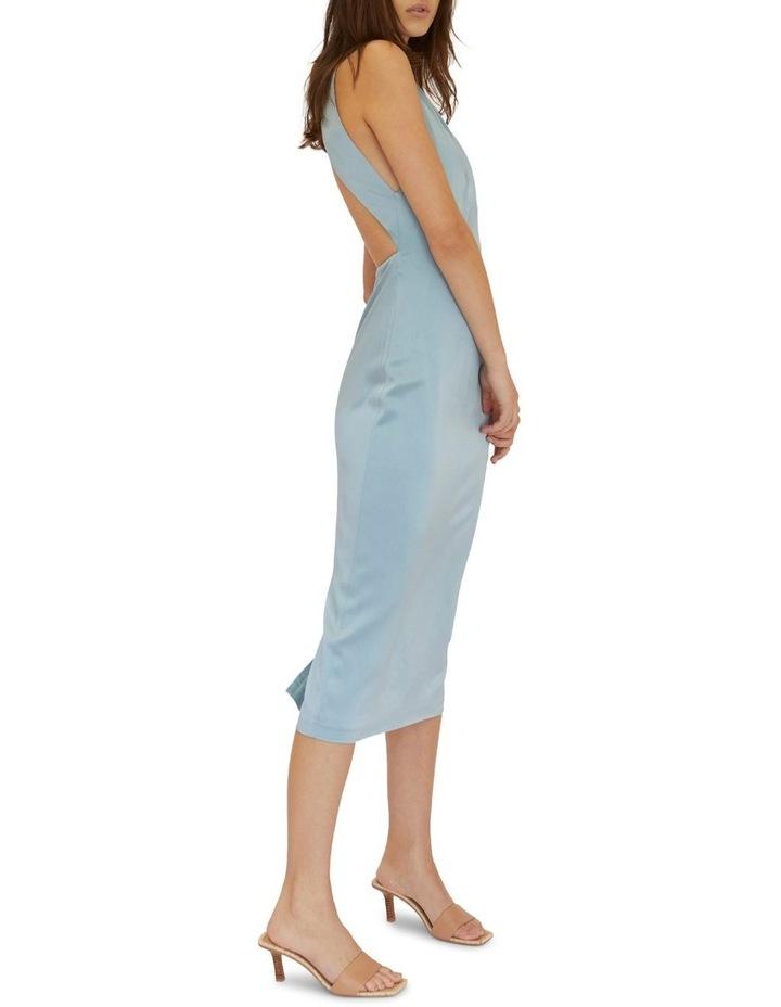 Long Nights Draw In Neck Dress Powder Blue image 3