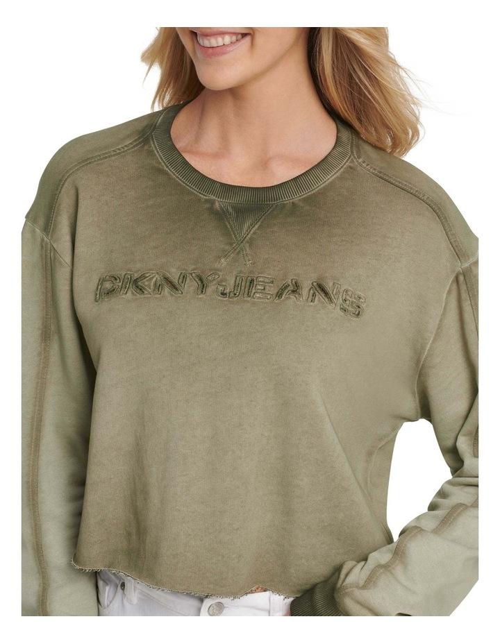 Cropped Washed Front Logo Sweatshirt image 4
