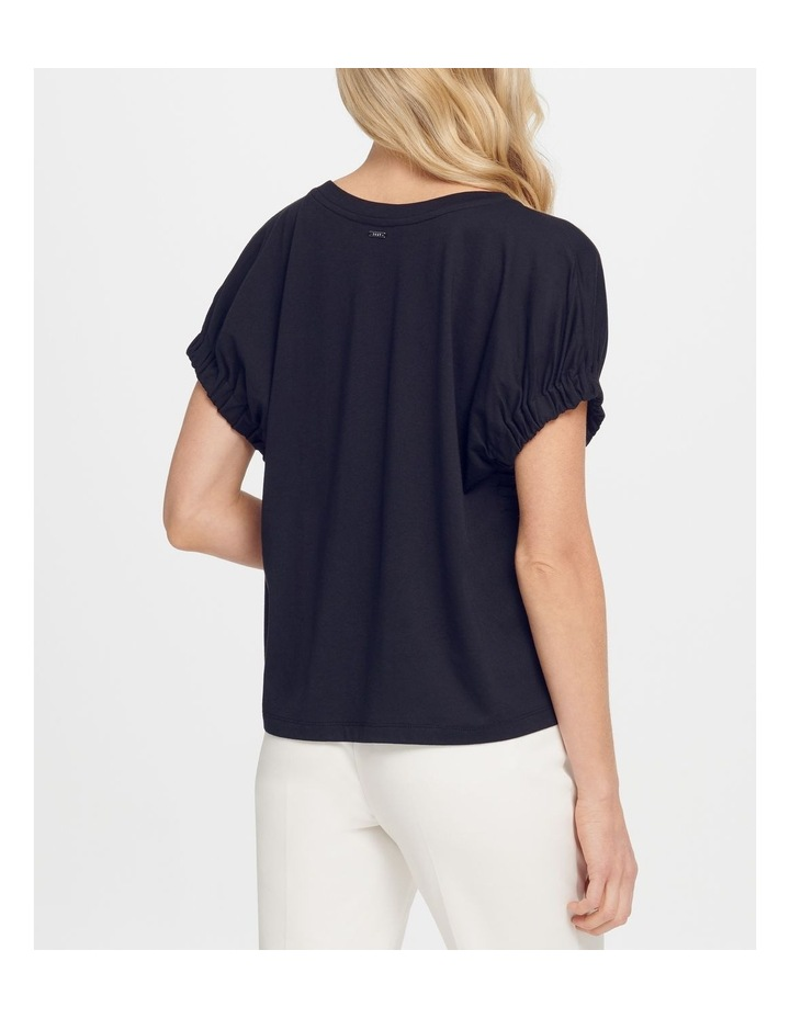T-Shirt With Elastic Cuff Sleeves image 3