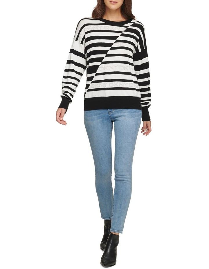Striped Logo Sweater image 1
