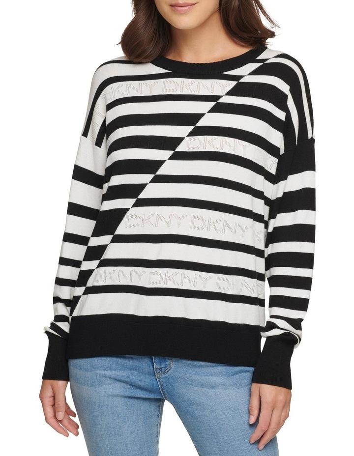 Striped Logo Sweater image 2