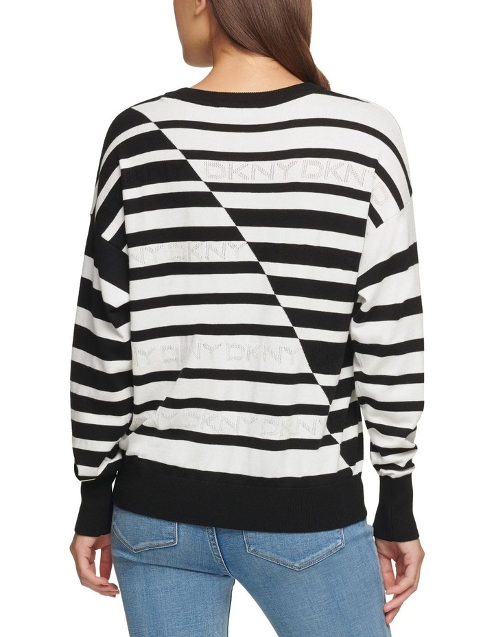 Striped Logo Sweater image 3