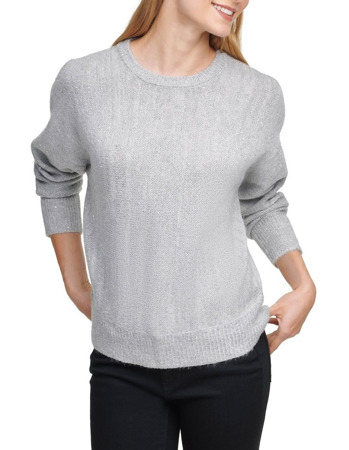 Crew Neck Sweater With Sequin Detail image 1