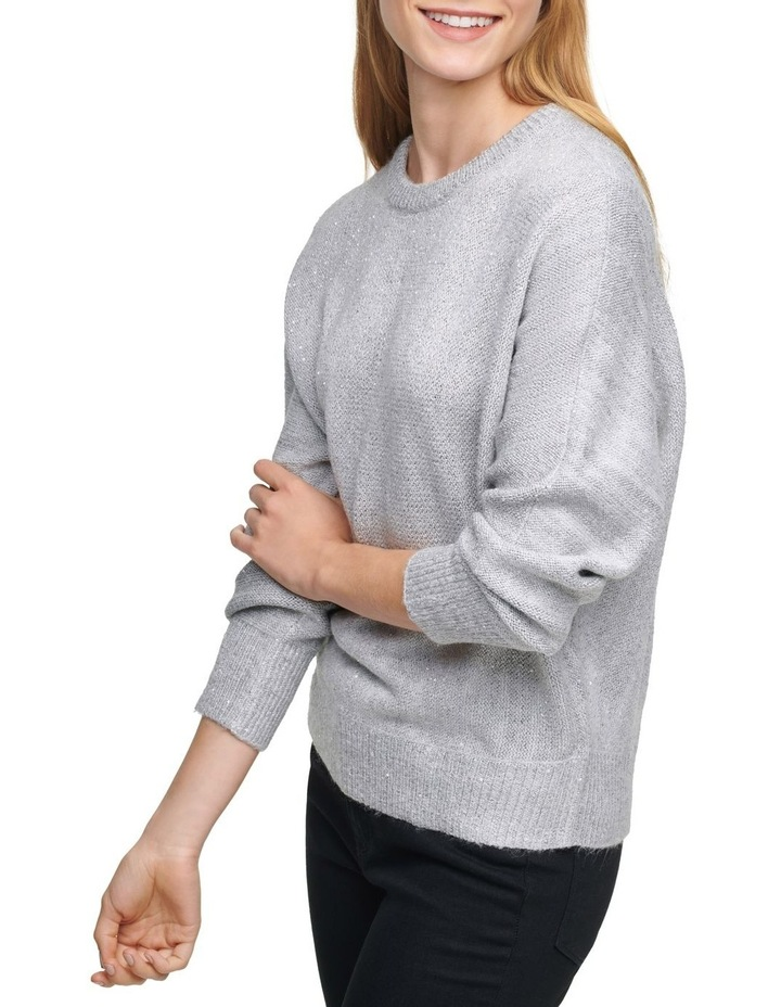 Crew Neck Sweater With Sequin Detail image 4