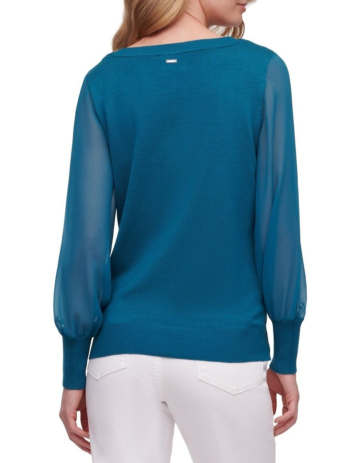 Long Sleeve With Woven Sleeves image 2