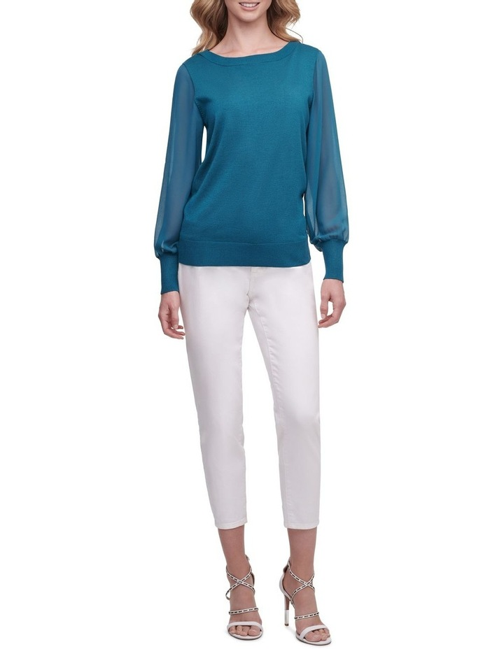 Long Sleeve With Woven Sleeves image 3