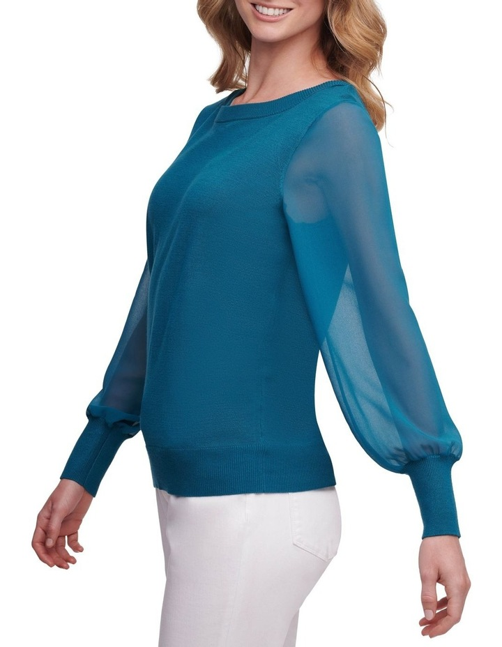 Long Sleeve With Woven Sleeves image 4