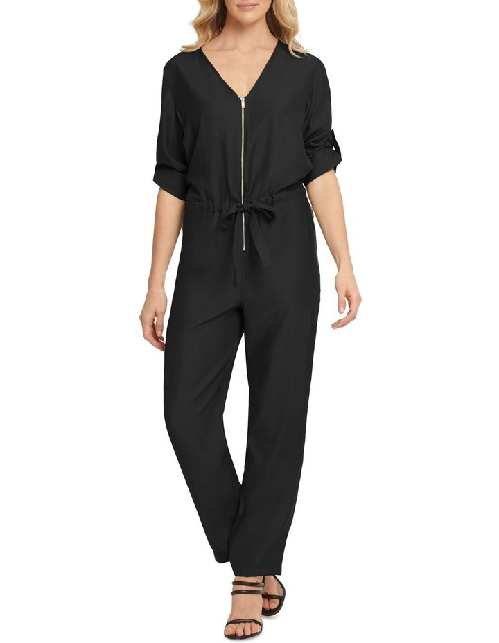 Long Sleeve Jumpsuit With Front Zip image 1