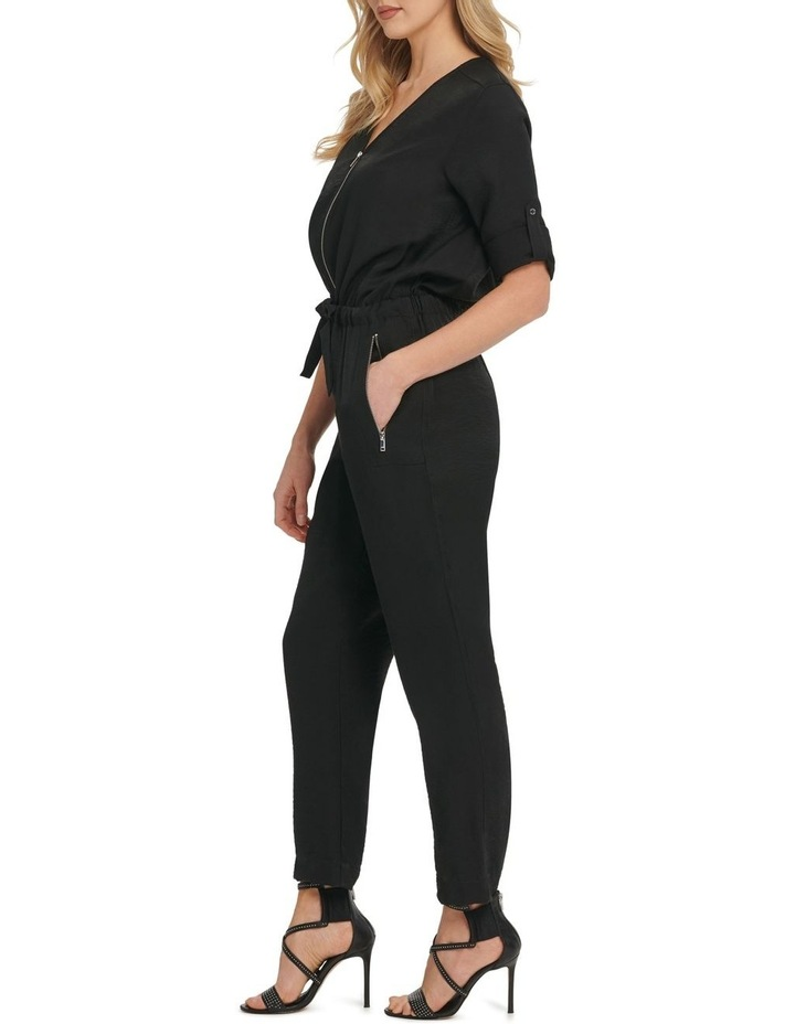 Long Sleeve Jumpsuit With Front Zip image 2