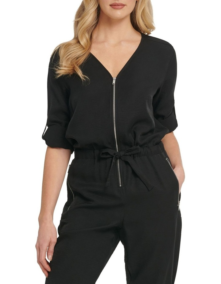 Long Sleeve Jumpsuit With Front Zip image 3