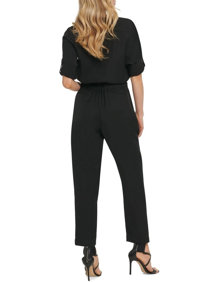 Long Sleeve Jumpsuit With Front Zip image 4