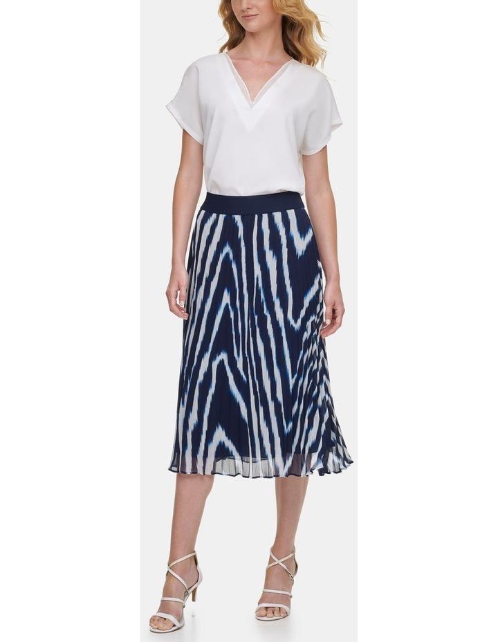 Printed Pleated Skirt image 3