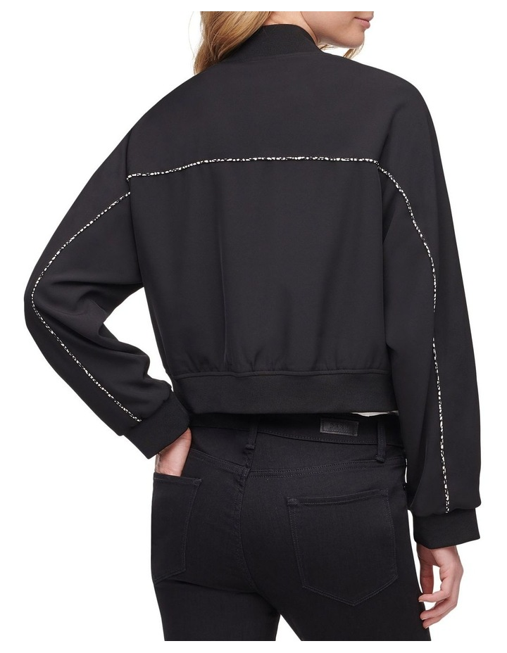 Cropped Bomber With Print Detail image 2