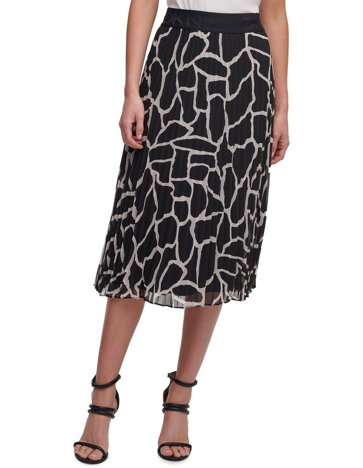 Printed Pleated Skirt With Waist Band image 2