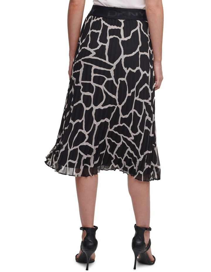 Printed Pleated Skirt With Waist Band image 3