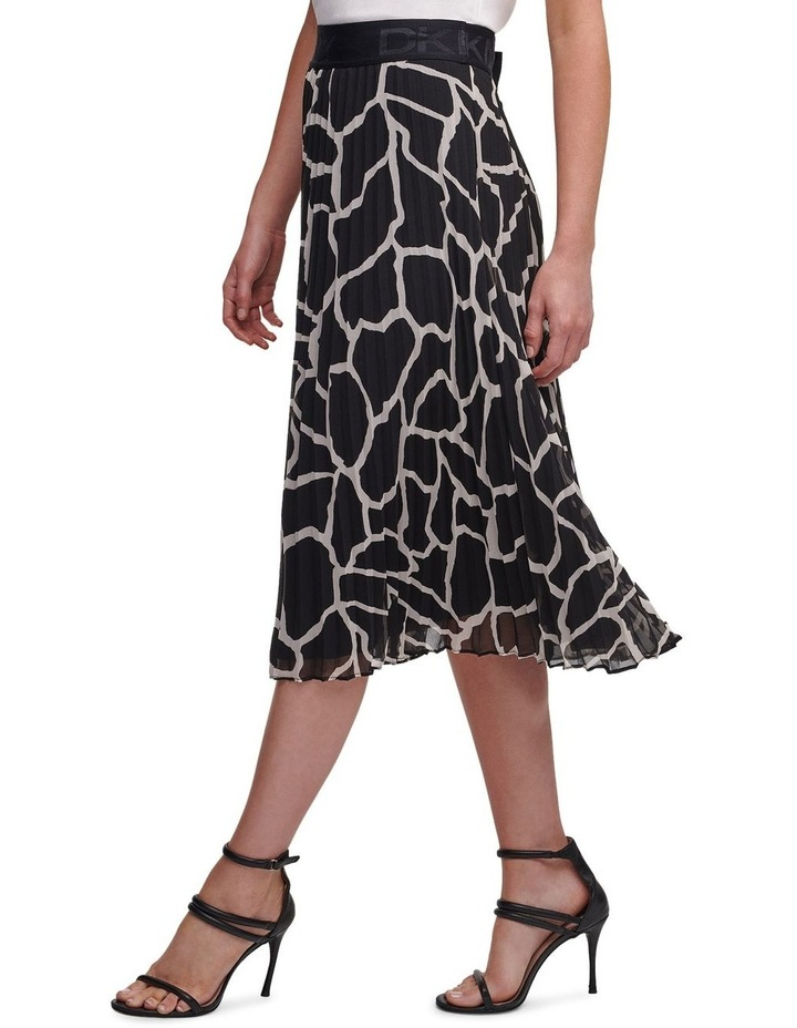 Printed Pleated Skirt With Waist Band image 4