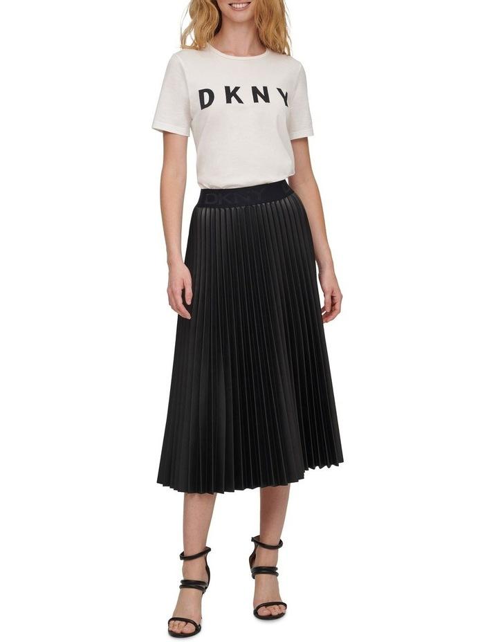 Pull On Pleated Pu Skirt image 1