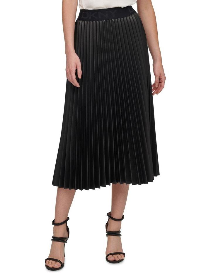 Pull On Pleated Pu Skirt image 2
