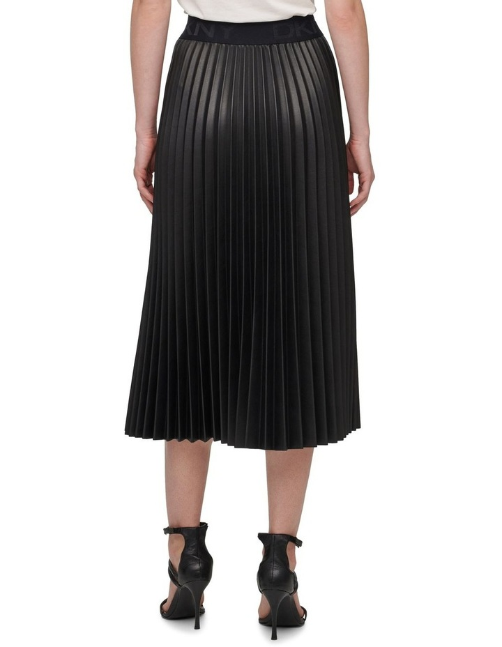 Pull On Pleated Pu Skirt image 3