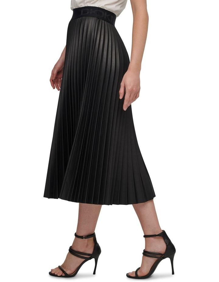Pull On Pleated Pu Skirt image 4