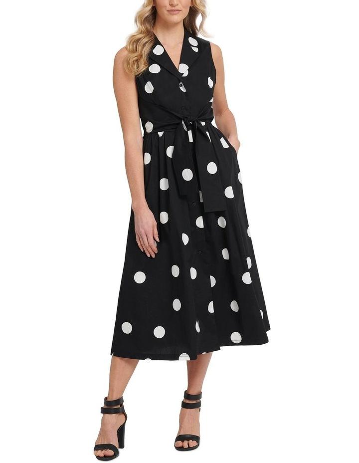 Tie Waist S/L Shift Dress image 1