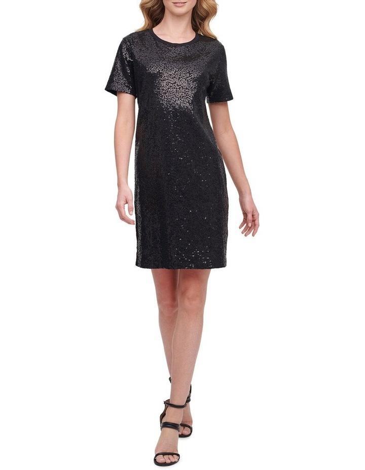 Sequin Knit T-Shirt Dress image 1