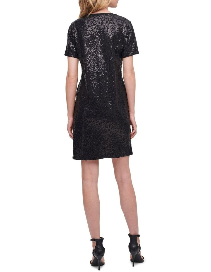 Sequin Knit T-Shirt Dress image 3