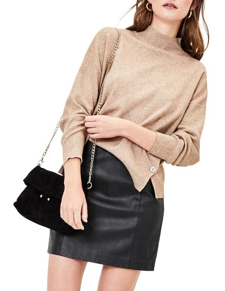 Faux Leather Seamed Mini image 2