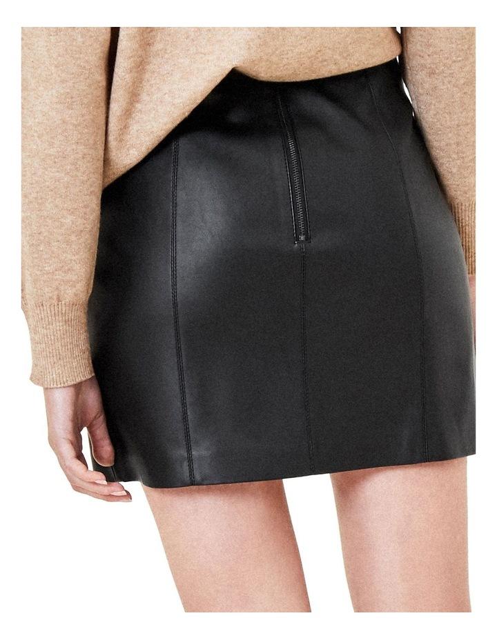 Faux Leather Seamed Mini image 3