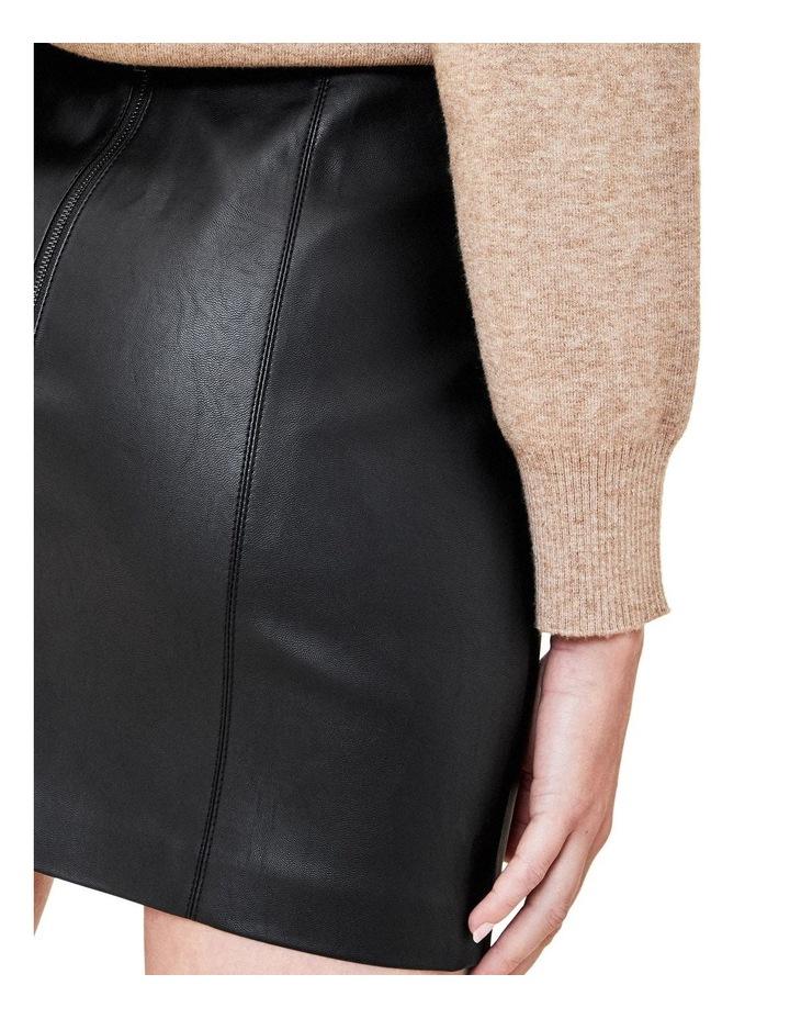 Faux Leather Seamed Mini image 4