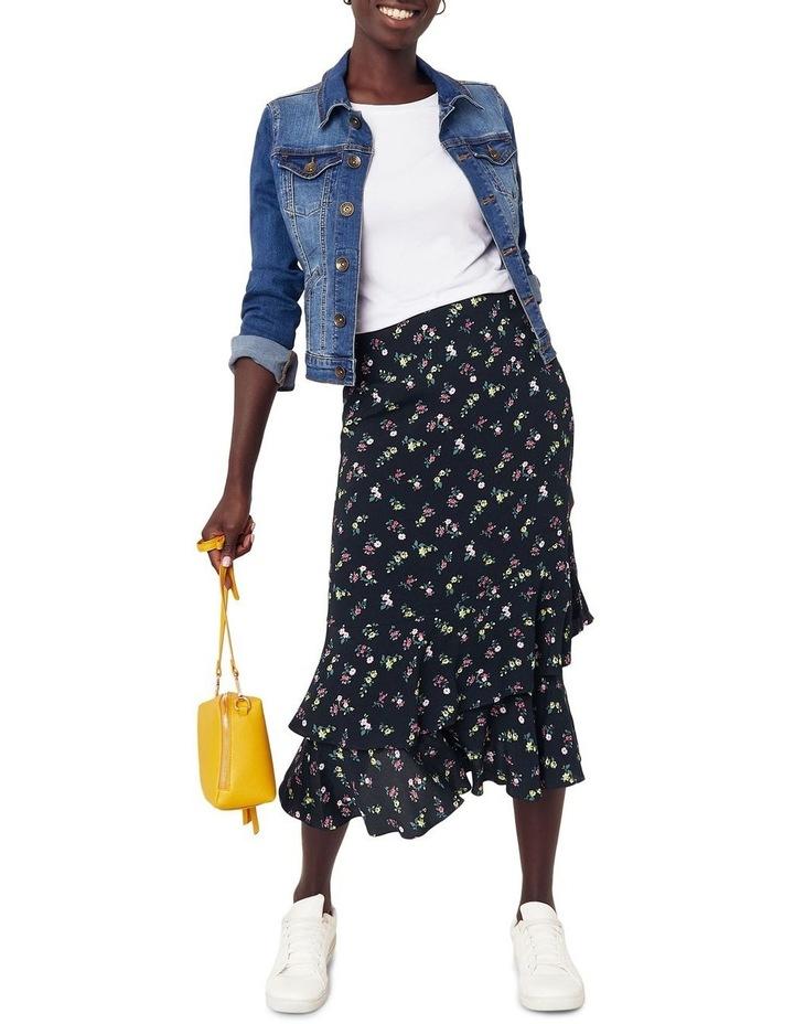 Ditsy Tiered Midi Skirt image 2