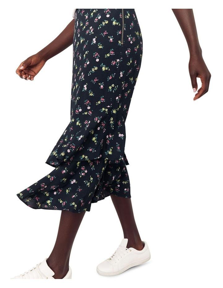 Ditsy Tiered Midi Skirt image 4