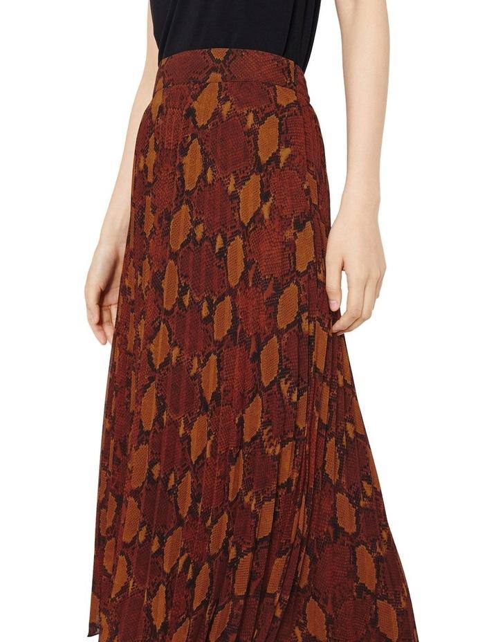 Snake Pleated Midi Skirt image 1