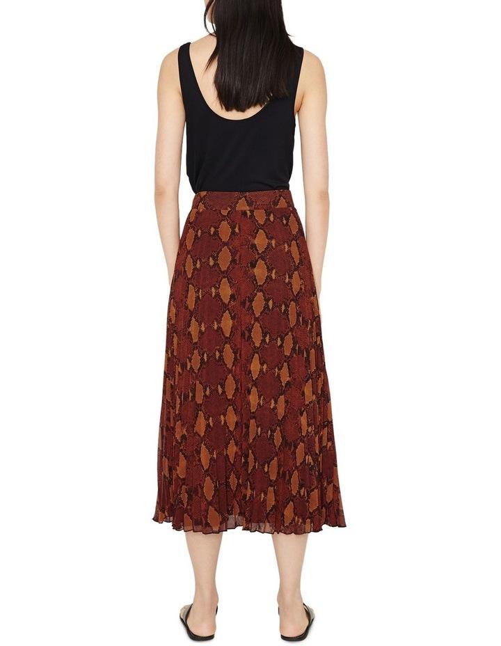 Snake Pleated Midi Skirt image 2