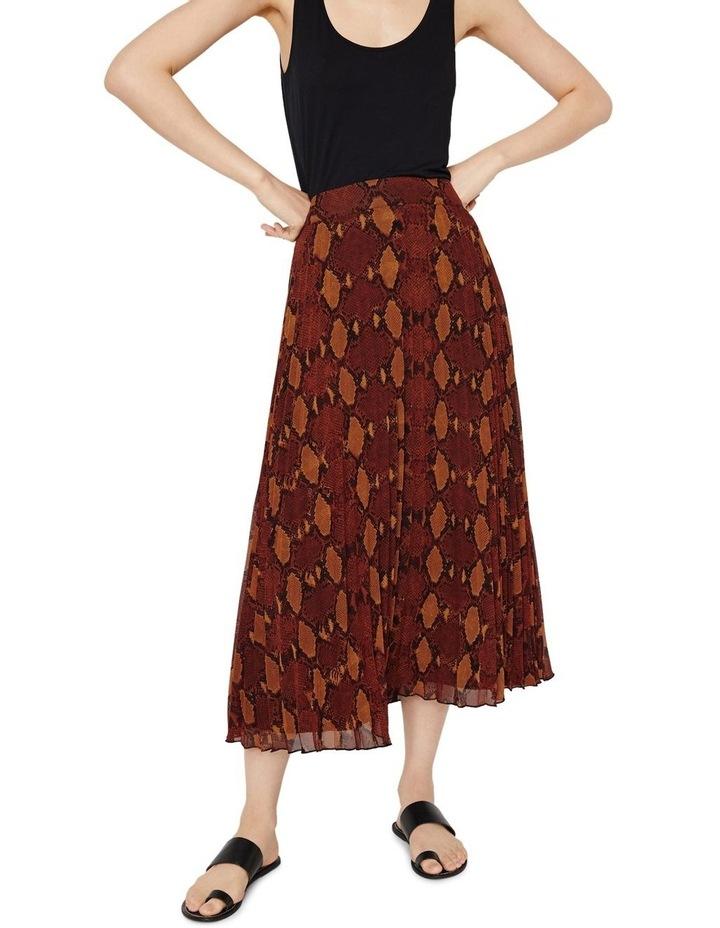 Snake Pleated Midi Skirt image 3