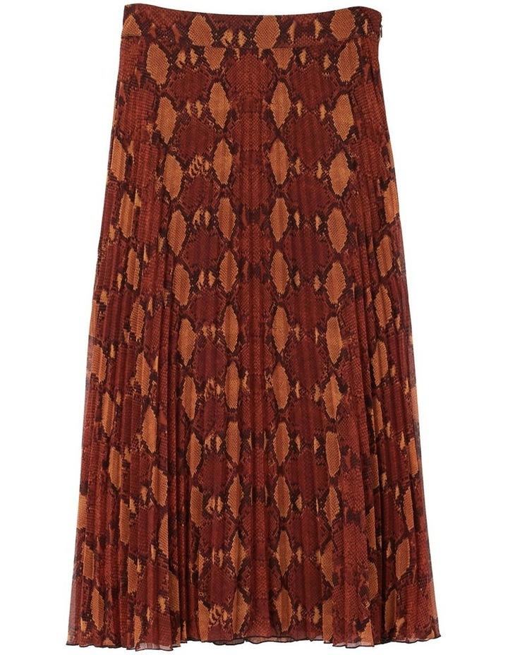 Snake Pleated Midi Skirt image 4