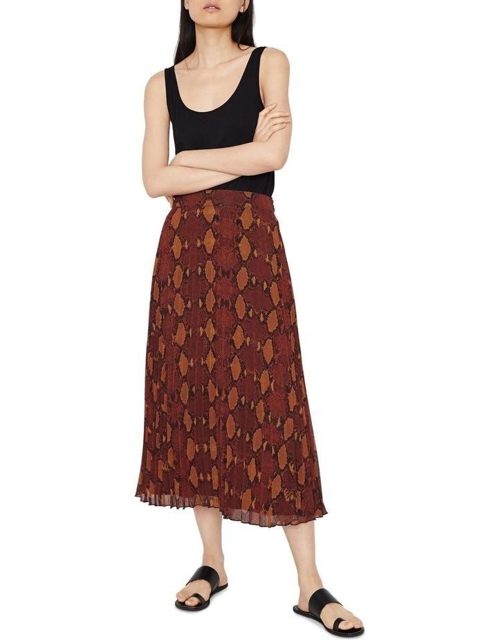 Snake Pleated Midi Skirt image 5