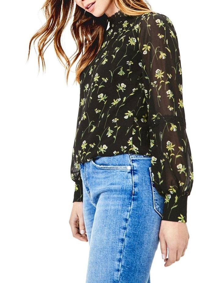 Daffodil Lace Trim High Neck Top image 1