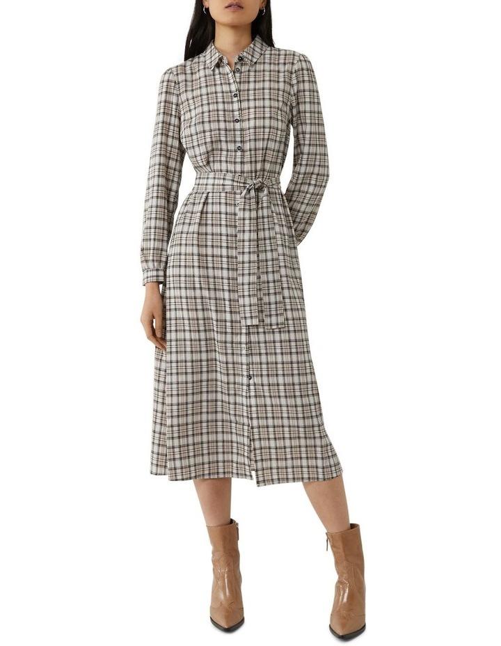 Check Midi Shirt Dress image 1