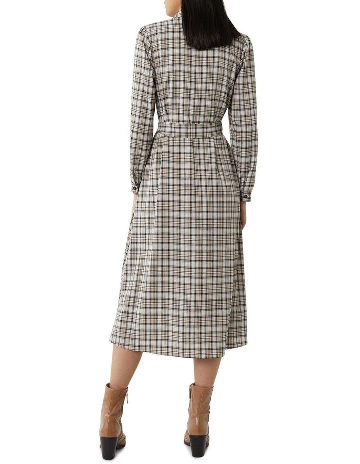 Check Midi Shirt Dress image 2