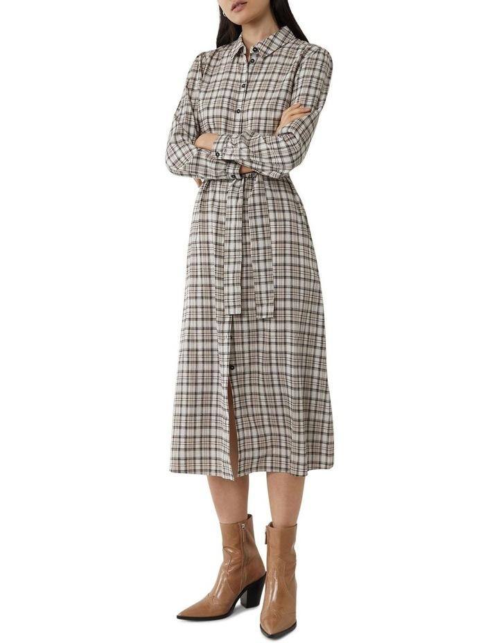 Check Midi Shirt Dress image 3