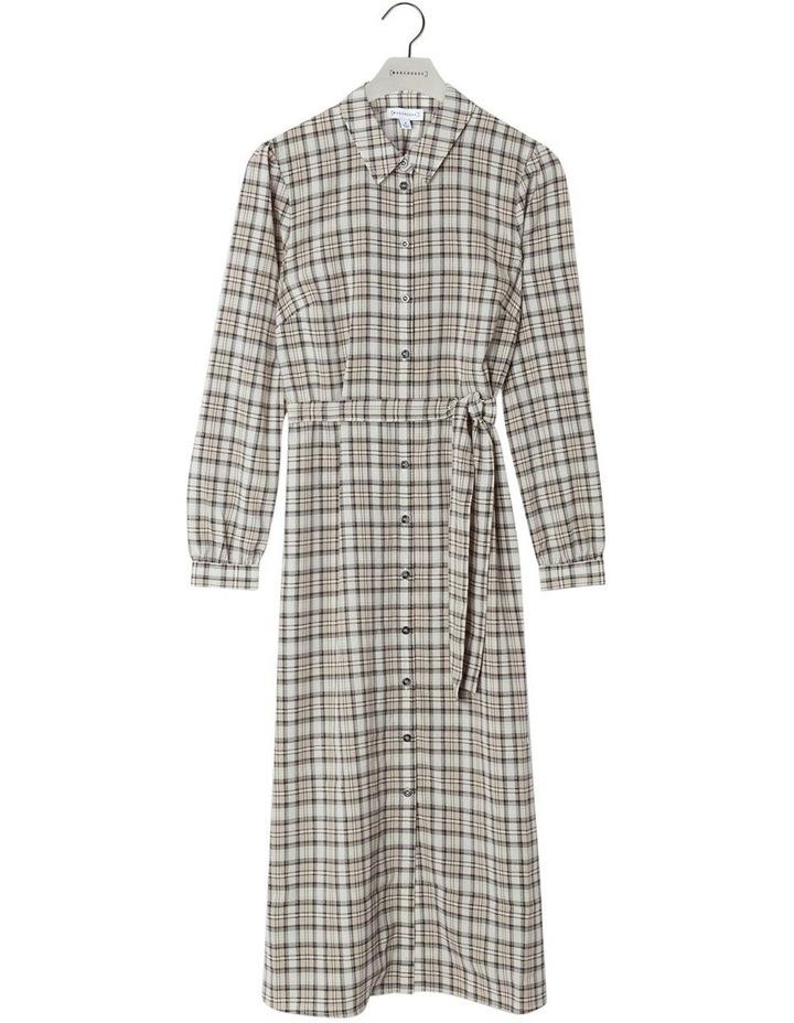 Check Midi Shirt Dress image 4