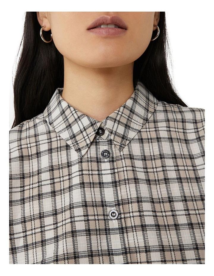 Check Midi Shirt Dress image 5