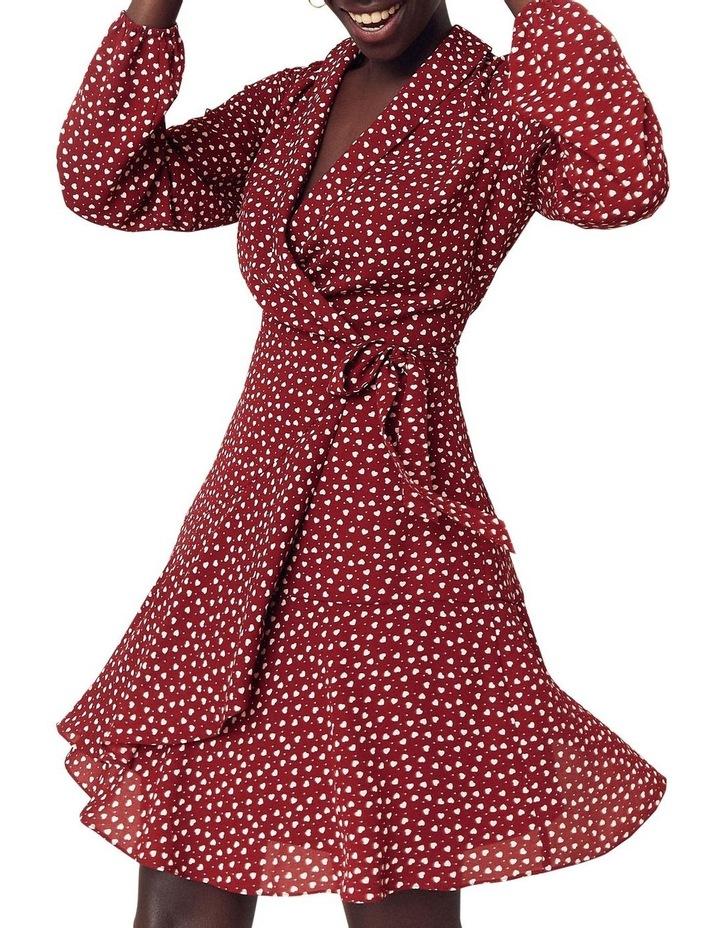 Heart Wrap Blouse Dress image 1