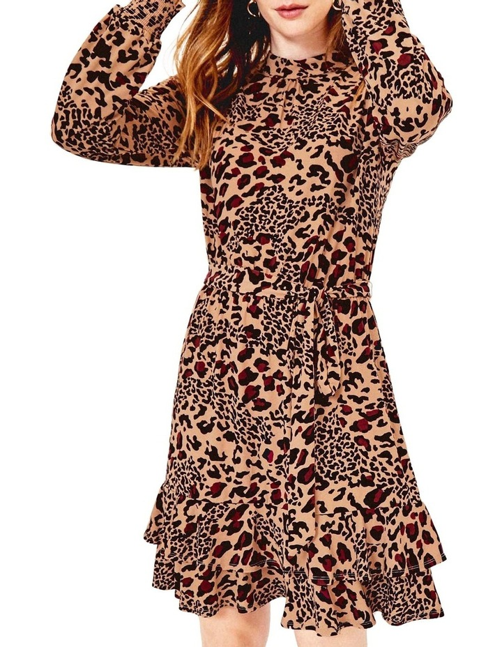 Animal Tiered Blouse Dress image 1