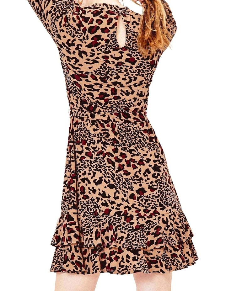 Animal Tiered Blouse Dress image 3